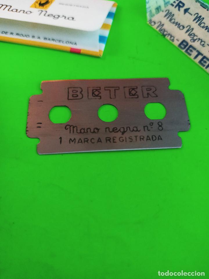 Antigüedades: ANTIGUA MAQUINA AFEITAR BETER. CABEZAL MARIPOSA/MANUAL. + 5 HOJAS BETER A ESTRENAR. DESCRIP. Y FOTOS - Foto 3 - 242338740