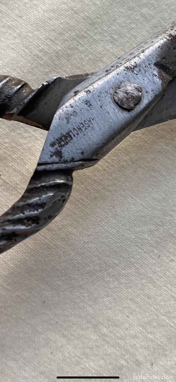 Antigüedades: Antigua tijera alemana Tijeras costura acero mango sogueado s xix 20/15 - Foto 3 - 242365070