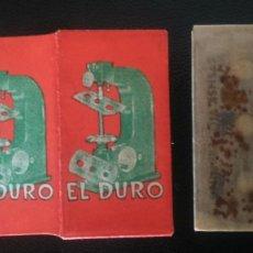 Antigüedades: HOJA DE AFEITAR - CUCHILLA DE AFEITAR - EL DURO - NUEVA. Lote 242373170