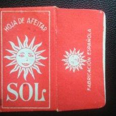 Antigüedades: HOJA DE AFEITAR - CUCHILLA DE AFEITAR - SOL - SOLO FUNDA. Lote 242374745