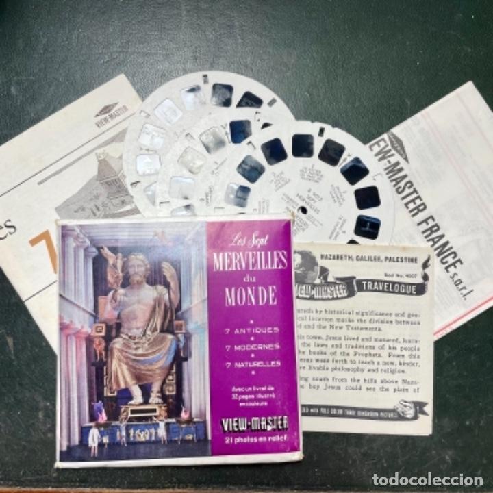 SET DE 3 RUEDAS DE VIEW MASTER DE LAS 7 MARAVILLAS DEL MUNDO (Antigüedades - Técnicas - Aparatos de Cine Antiguo - Visores Estereoscópicos Antiguos)