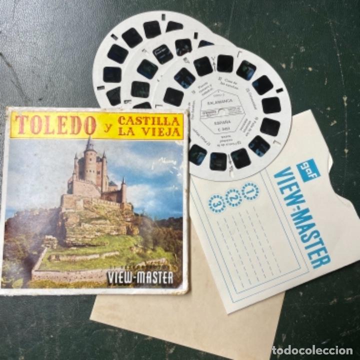 SET DE 3 RUEDAS DE VIEW MASTER DE TOLEDO Y CASTILLA LA VIEJA (Antigüedades - Técnicas - Aparatos de Cine Antiguo - Visores Estereoscópicos Antiguos)
