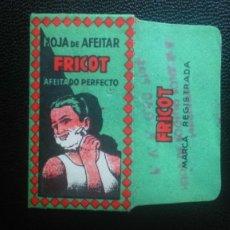 Antigüedades: HOJA DE AFEITAR - CUCHILLA DE AFEITAR - FRICOT - SOLO FUNDA. Lote 242379860