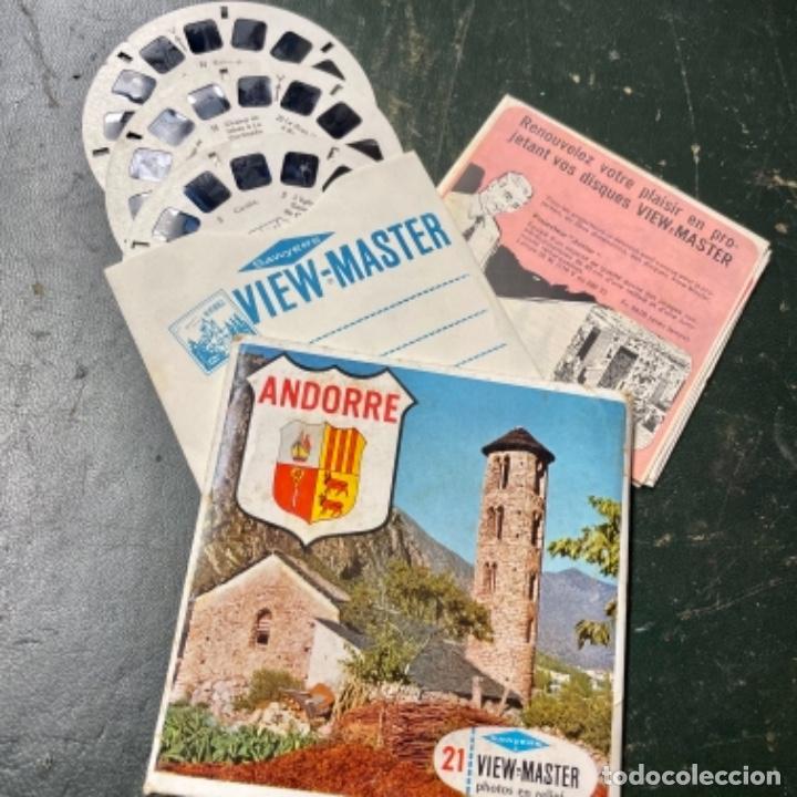 SET DE 3 RUEDAS DE VIEW MASTER DE ANDORRA (Antigüedades - Técnicas - Aparatos de Cine Antiguo - Visores Estereoscópicos Antiguos)