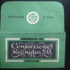 Antigüedades: HOJA DE AFEITAR - CUCHILLA DE AFEITAR - CONFECCIONES REUNIDAS S.A. - RARA. Lote 242381180