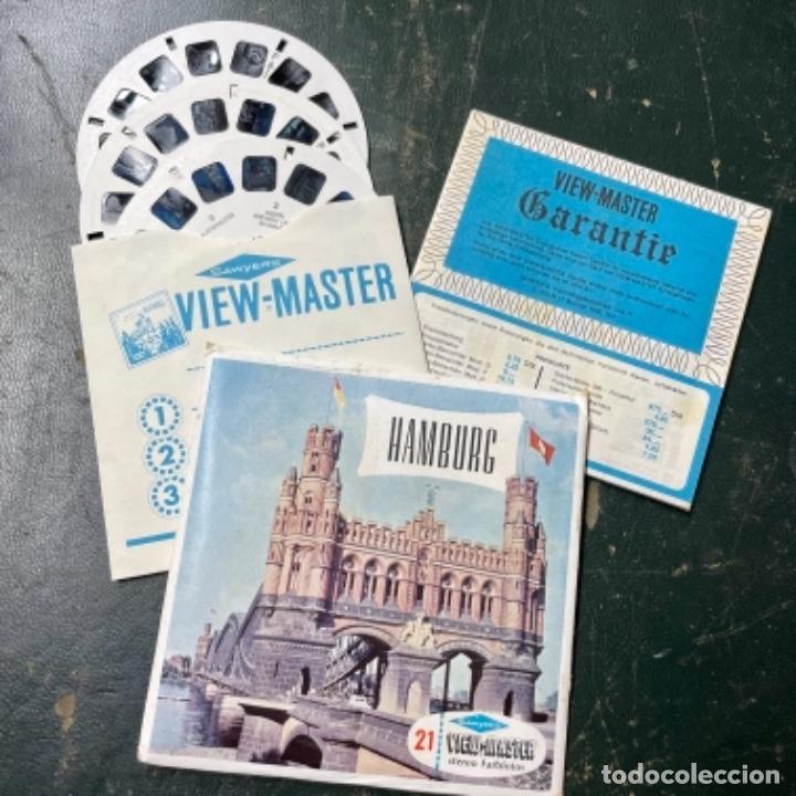 SET DE 3 RUEDAS DE VIEW MASTER DE HAMBURGO ALEMANIA (Antigüedades - Técnicas - Aparatos de Cine Antiguo - Visores Estereoscópicos Antiguos)