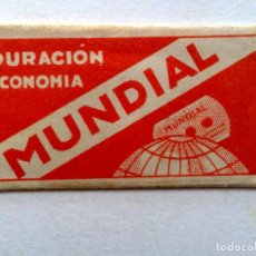 Antigüedades: HOJA DE AFEITAR ANTIGUA,MUNDIAL,DURACION ECONOMIA,ACERO FINO,SOLINGEN.. Lote 242437020