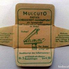 Antigüedades: HOJA DE AFEITAR ANTIGUA,MULCUTO,PARA ANTES Y DESPUES DEL AFEITADO.. Lote 242437710