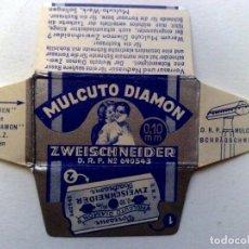 Antigüedades: HOJA DE AFEITAR ANTIGUA,MULCUTO DIAMON,ZWEISCHNEIDER.. Lote 242437820