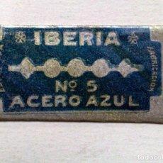 Antigüedades: HOJA DE AFEITAR ANTIGUA,IBERIA Nº5 (1 PTS.) ACERO AZUL.. Lote 242452845