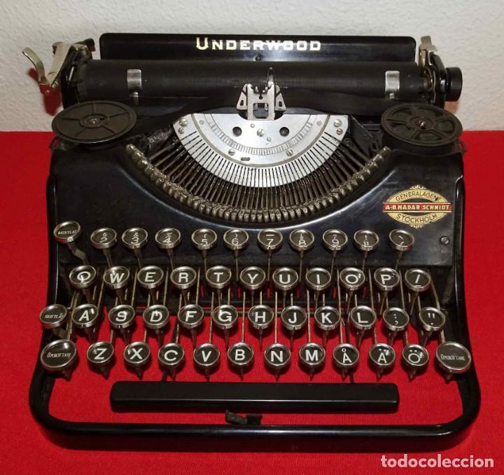 Antigüedades: Máquina de escribir UNDERWOOD, c1925 - Foto 2 - 242456290