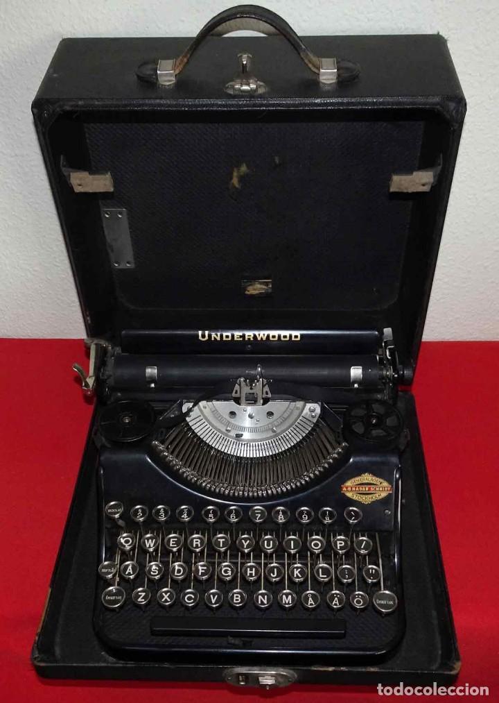Antigüedades: Máquina de escribir UNDERWOOD, c1925 - Foto 7 - 242456290