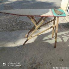 Antigüedades: ¡ LIQUIDACIÓN! TABLA DE PLANCHAR HECHA EN MADERA.. Lote 242829595