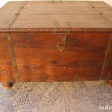Antigüedades: CAJA BAUL COFRE CAPITAN DE BARCO. Lote 242937465