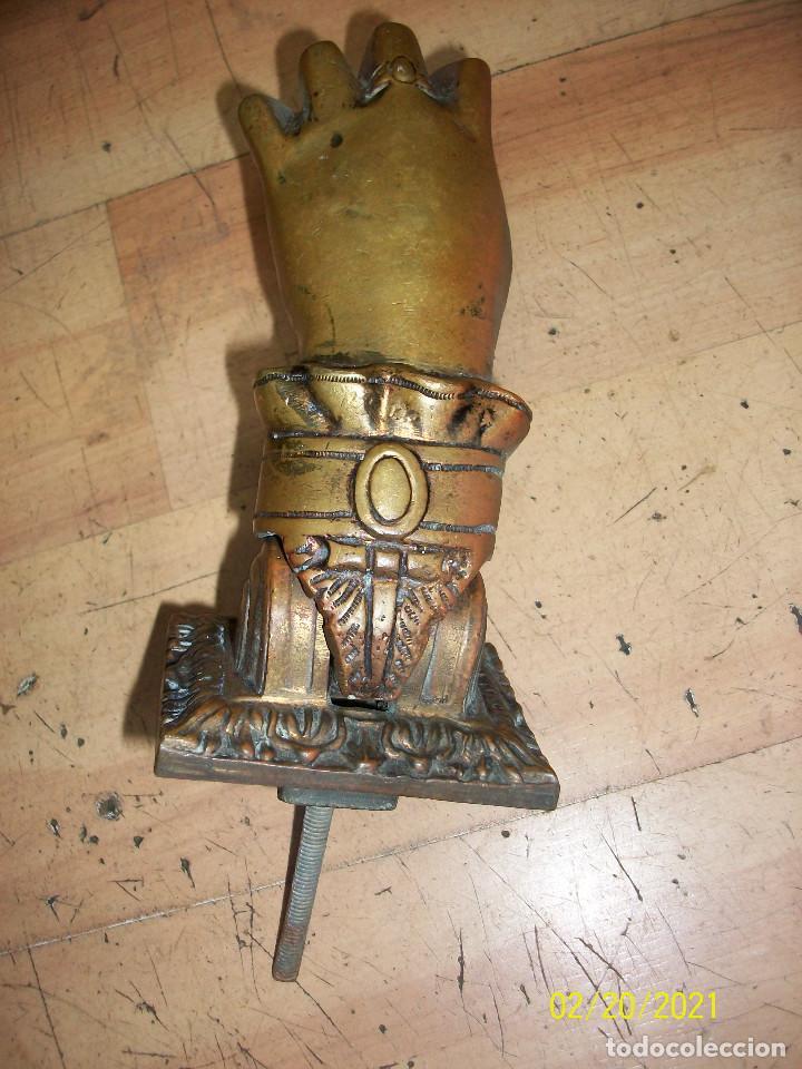 Antigüedades: ANTIGUA ALDABA/LLAMADOR DE BRONCE - Foto 4 - 243066460
