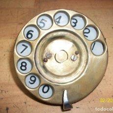 Teléfonos: ANTIGUO DISCO DE TELEFONO DE BRONCE. Lote 243067240