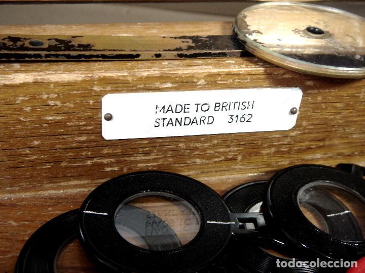 Antigüedades: ESPECTACULAR CAJON DE PRUEBAS LENTES GRADUACION -MADE IN BRITISH - GRADUAR CRISTALES JUEGO + GAFAS - Foto 9 - 243072350