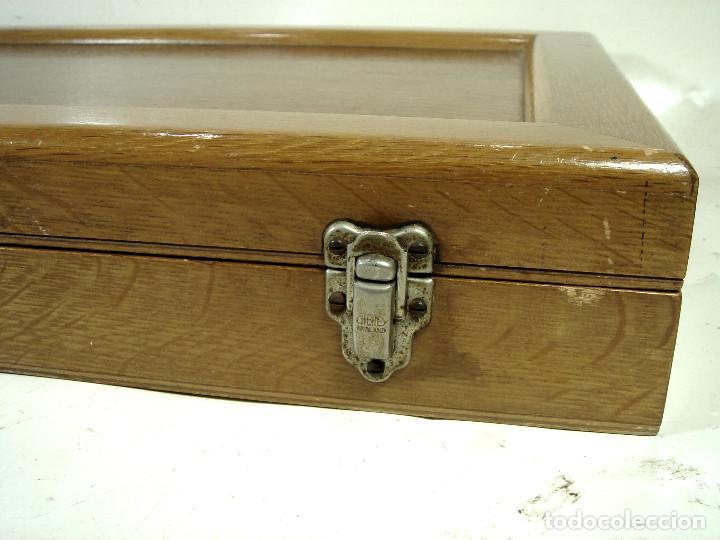 Antigüedades: ESPECTACULAR CAJON DE PRUEBAS LENTES GRADUACION -MADE IN BRITISH - GRADUAR CRISTALES JUEGO + GAFAS - Foto 32 - 243072350