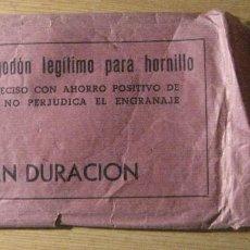 Antigüedades: ANTIGUO SOBRE CON MECHA DE ALGODON LEGITIMO PARA HORNILLO .. Lote 243142475