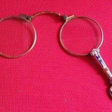 Antiquités: ANTIGUOS GAFAS PLEGABLES IMPERTINENTES .VER FOTS. Lote 243193330