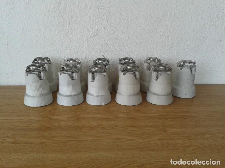 11 PORTALAMPARAS CERAMICA INDUSTRIALES E-40 (Antigüedades - Técnicas - Herramientas Profesionales - Electricidad)