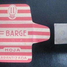 Antigüedades: HOJA DE AFEITAR - CUCHILLA DE AFEITAR - BARGE - NUEVA CON SU CUCHILLA. Lote 243257385