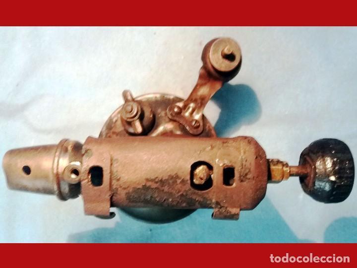 Antigüedades: ANTIGUO SOPLETE DE METAL LATON Y HIERRO MARCA SERROT BARCELONA tipo B.Años 1940-50 - Foto 4 - 243262465