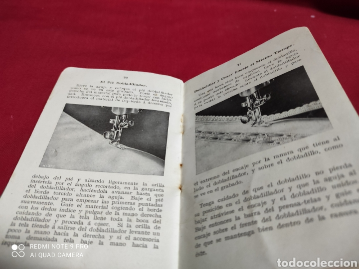 Antigüedades: Libro de instrucciones de máquina de coser singer n⁰15 - Foto 2 - 243454630