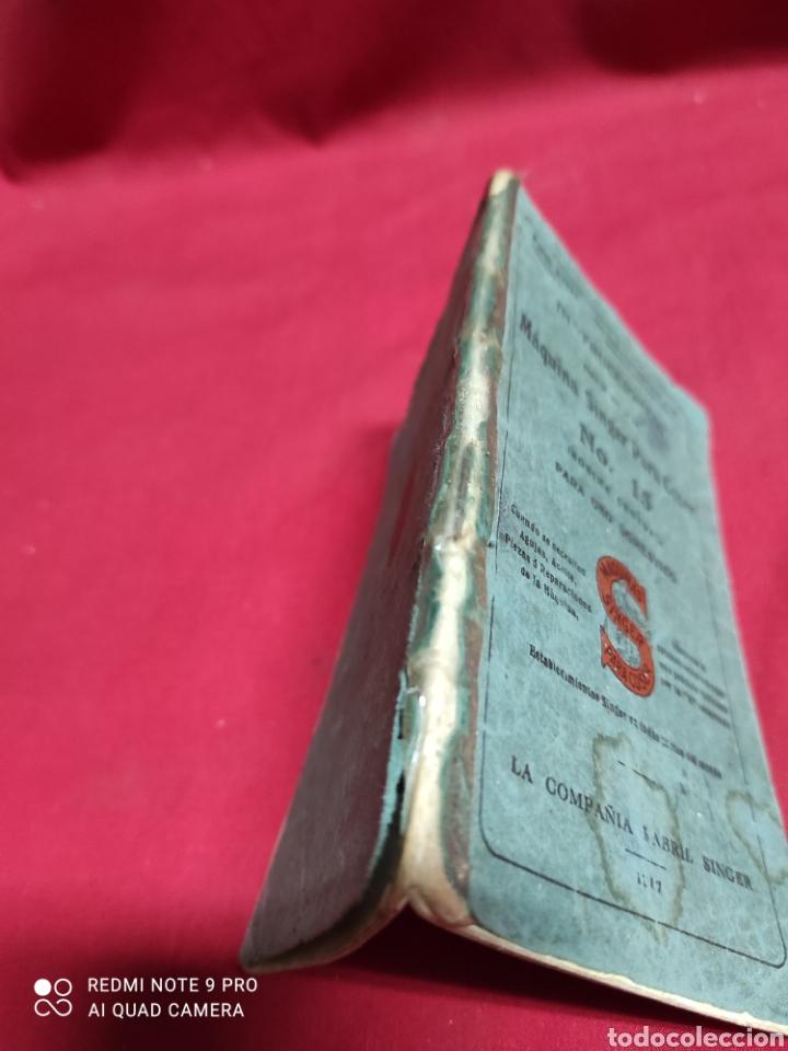 Antigüedades: Libro de instrucciones de máquina de coser singer n⁰15 - Foto 4 - 243454630