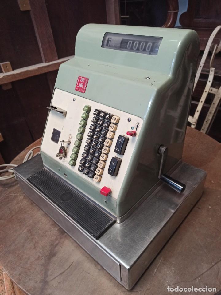 Antigüedades: Antigua caja registradora Hugin. - Foto 2 - 243561135