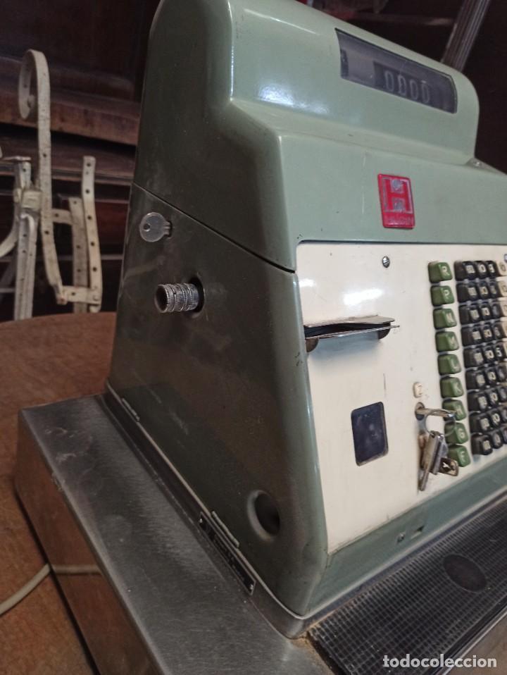 Antigüedades: Antigua caja registradora Hugin. - Foto 3 - 243561135
