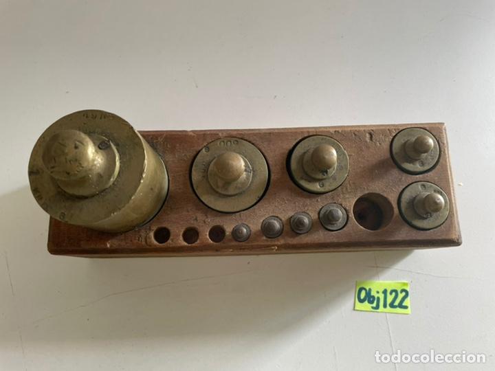 Antigüedades: Antiguo juego de peso - Foto 2 - 243633505