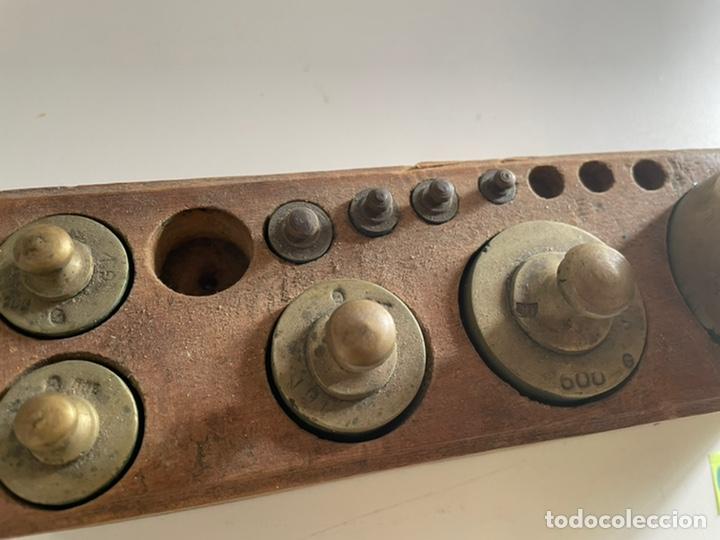 Antigüedades: Antiguo juego de peso - Foto 4 - 243633505