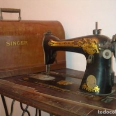 Antigüedades: MÁQUINA DE COSER SINGER 1927. RENACIMIENTO EJIPCIO.. Lote 243644860