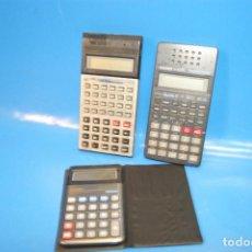 Antigüedades: LOTE 3 CALCULADORAS - CIENTIFICAS CASIO FX-82SX + COMPLEX + LC-1000L. Lote 243935465