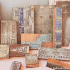 Antigüedades: LOTE DE GRANDES PLANCHAS DE IMPRENTA ANTIQUE UNIQUE. Lote 243971875