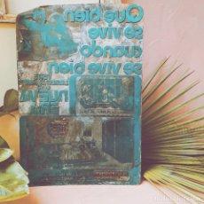 Antigüedades: IMPRESIONANTE GRAN PLACA DE IMPRENTA ANUNCIO ANTIQUE UNIQUE. Lote 243972950