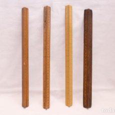 Antigüedades: ESCALIMETROS DE MADERA. Lote 244181665