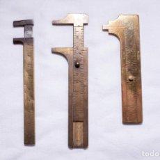 Antigüedades: LOTE CALIBRES DE METAL. Lote 244183065