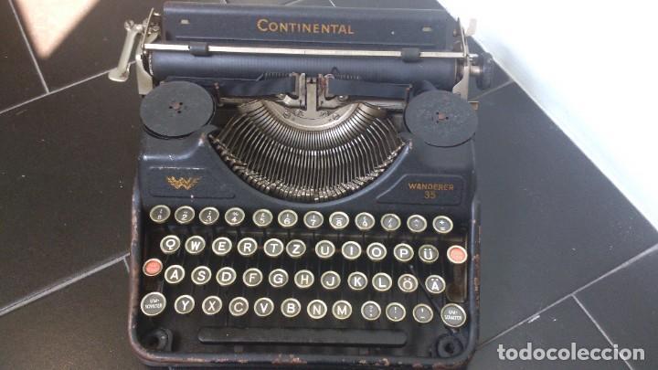 ANTIGUA MÁQUINA DE ESCRIBIR CONTINENTAL WANDERER (Antigüedades - Técnicas - Máquinas de Escribir Antiguas - Continental)