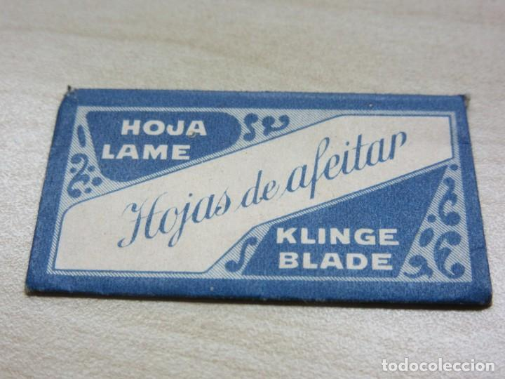 FUNDA DE CUCHILLA DE AFEITAR KLINGE AÑOS 40 (Antigüedades - Técnicas - Barbería - Hojas de Afeitar Antiguas)