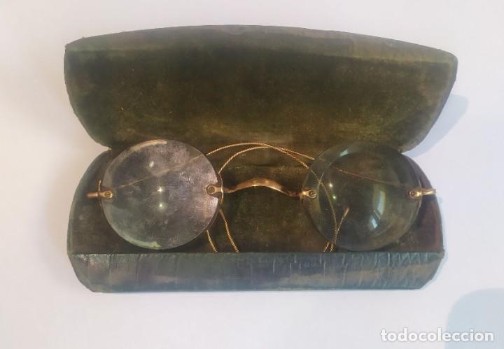 Antigüedades: ANTIGUAS LENTES GRADUADAS CON ESTUCHE , LA ÓPTICA MODERNA, M. FLORIT, BARCELONA, VER FOTOS - Foto 3 - 244204670