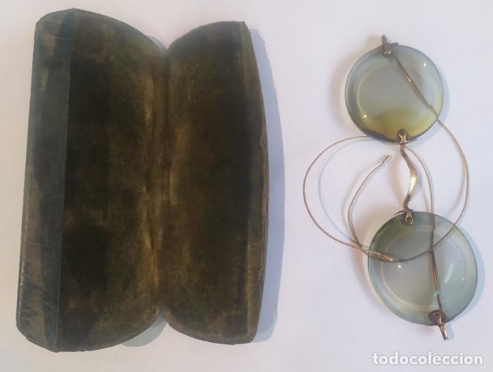 Antigüedades: ANTIGUAS LENTES GRADUADAS CON ESTUCHE , LA ÓPTICA MODERNA, M. FLORIT, BARCELONA, VER FOTOS - Foto 4 - 244204670