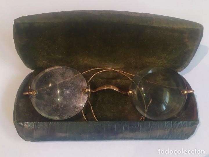 Antigüedades: ANTIGUAS LENTES GRADUADAS CON ESTUCHE , LA ÓPTICA MODERNA, M. FLORIT, BARCELONA, VER FOTOS - Foto 5 - 244204670
