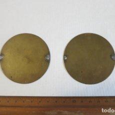 Antigüedades: PLATILLOS DE BALANZA DIAMETRO 6,7. Lote 244266205