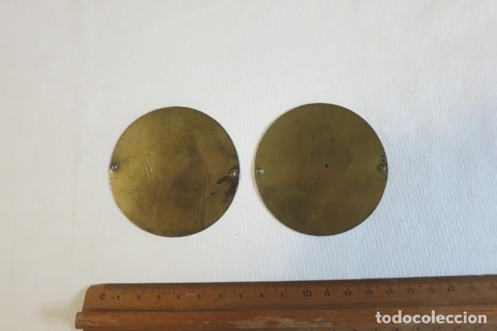 Antigüedades: Platillos de balanza diametro 6,7 - Foto 2 - 244266205