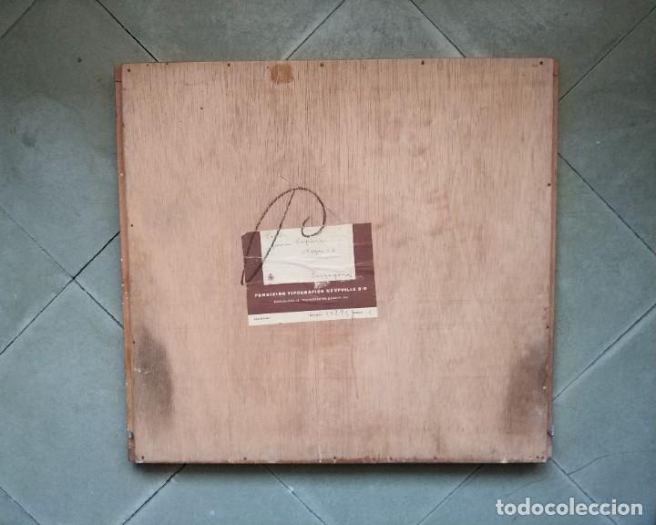 Antigüedades: Cajón de imprenta, años 50 - Foto 2 - 244344035