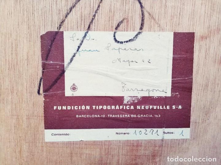 Antigüedades: Cajón de imprenta, años 50 - Foto 3 - 244344035