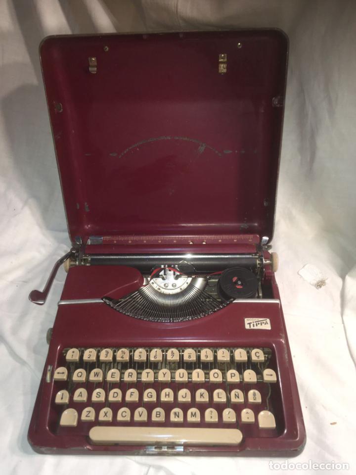 :AQUINA DE ESCRIBIR GOSSEN TIPPA, CAJA METÁLICA MIDE 30X31X7 CMS.MAQUINA DE PLÁSTICO DURO (Antigüedades - Técnicas - Máquinas de Escribir Antiguas - Otras)