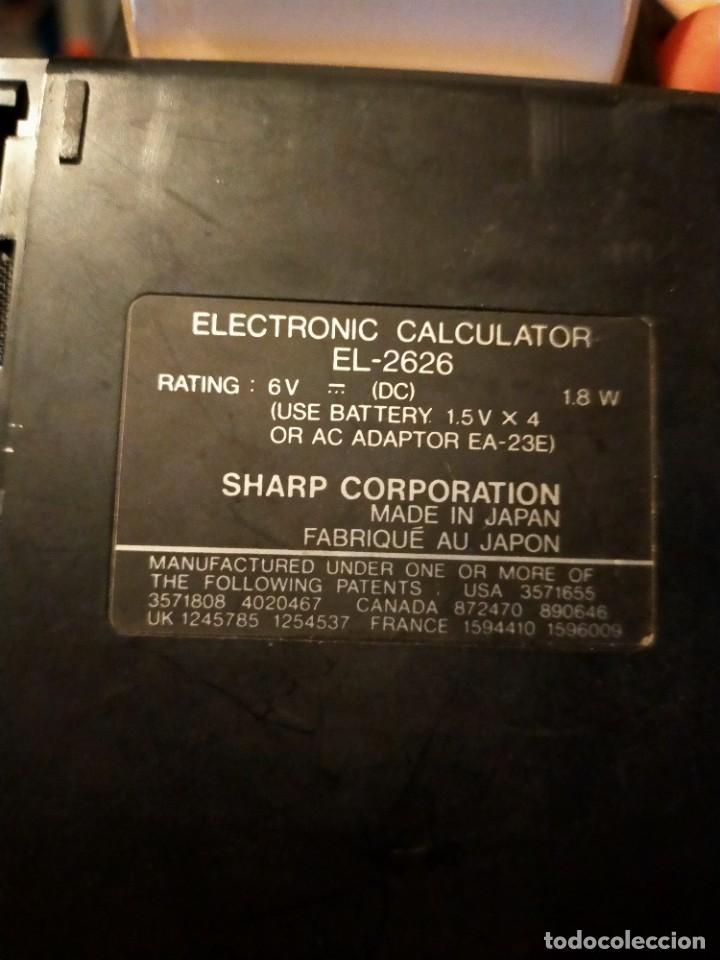 Antigüedades: Antigua calculadora Impresora Sharp EL 2626 Impresora 2 colores - Foto 7 - 244491860